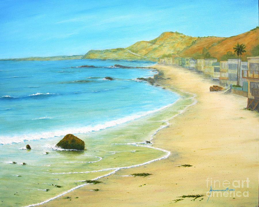 Malibu Painting - Malibu Road by Jerome Stumphauzer