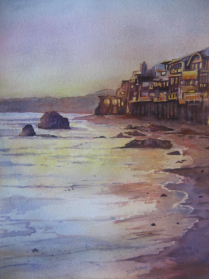 Malibu Sunset Painting  - Malibu Sunset Fine Art Print