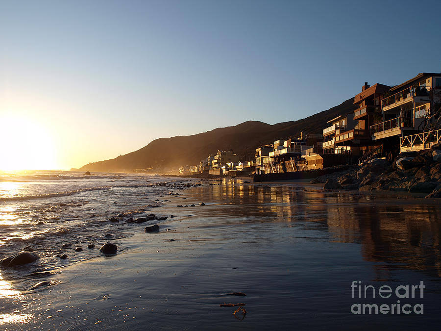 Ocean Photograph - Malibu Topanga Sunset by Trekkerimages Photography