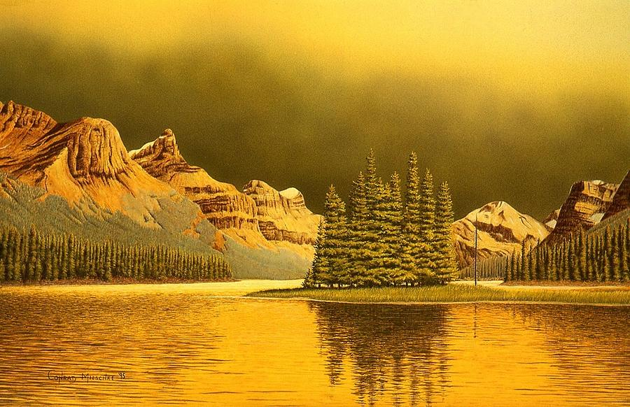 Maligne Lake Painting  - Maligne Lake Fine Art Print