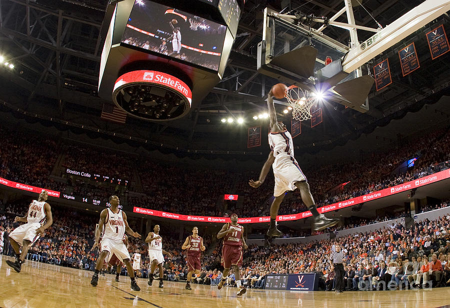 Mamadi Diane Dunk Against Boston College Photograph  - Mamadi Diane Dunk Against Boston College Fine Art Print