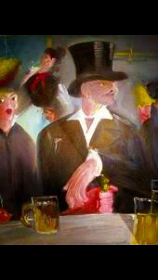 Man At Bar Painting - Man @ Bar by Calvin Jefferson