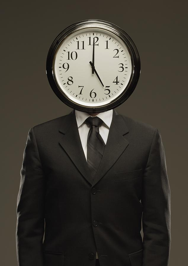Man In Suit With Clock Face Photograph By Darren Greenwood