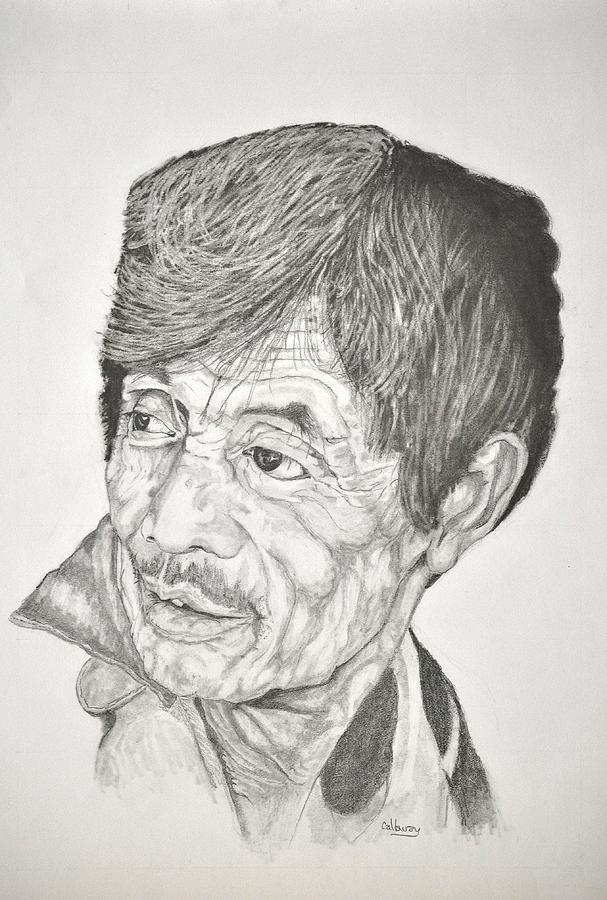 Man Looking Back Drawing