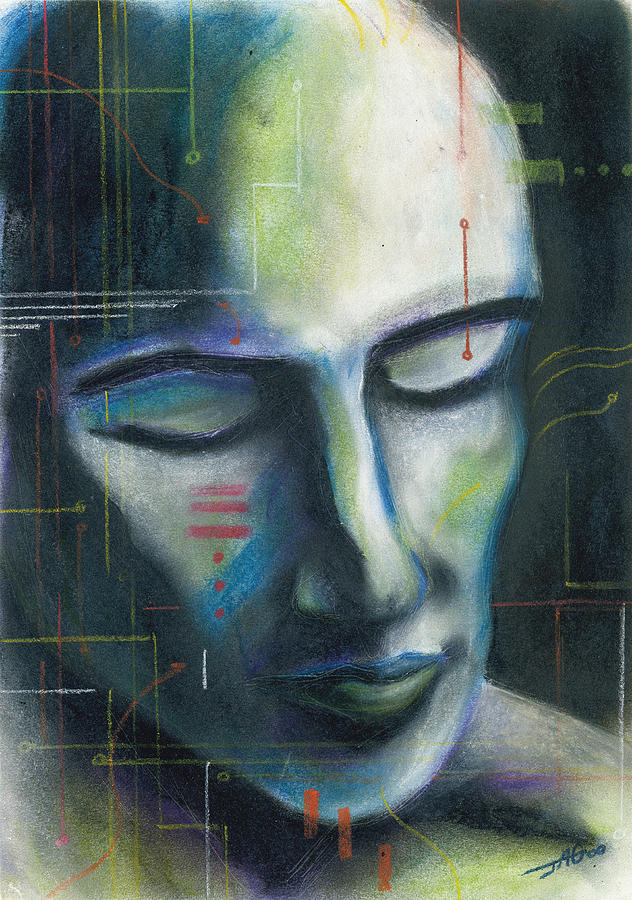 Pastel Drawing - Man-machine by John Ashton Golden