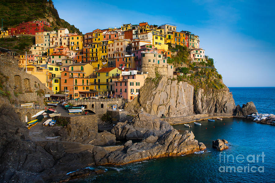 Architectural Photograph - Manarola by Inge Johnsson