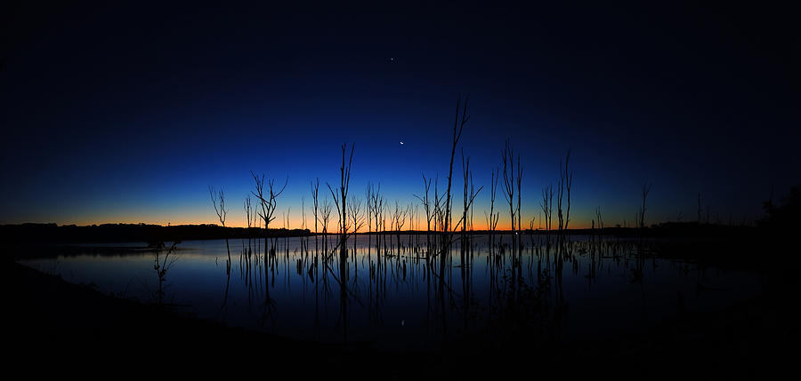 Manasquan Reservoir At Dawn Photograph