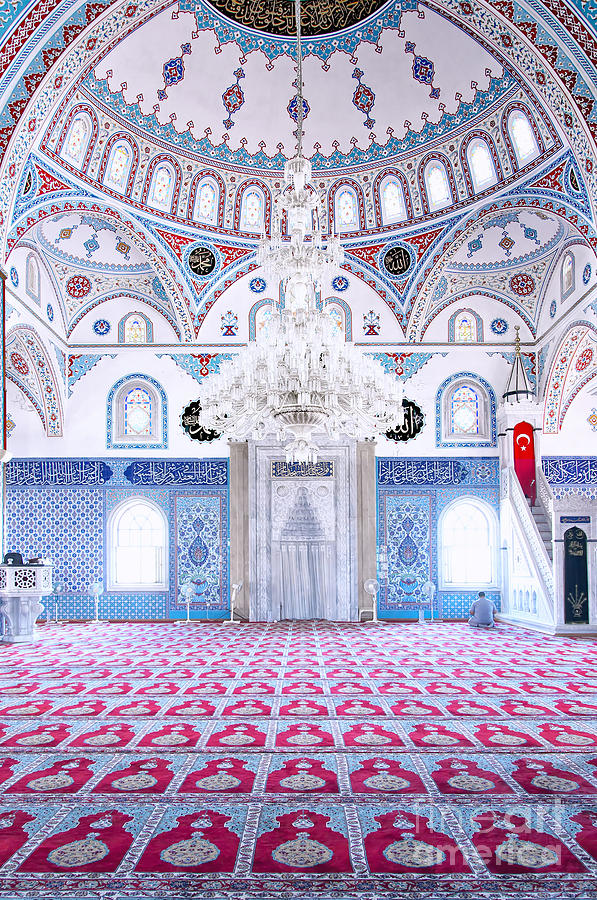 Mosque Photograph - Manavgat Mosque Interior 01 by Antony McAulay