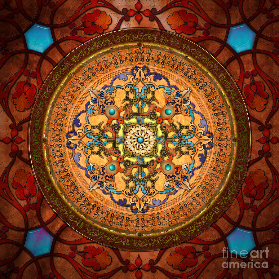 Mandala Arabia Digital Art  - Mandala Arabia Fine Art Print