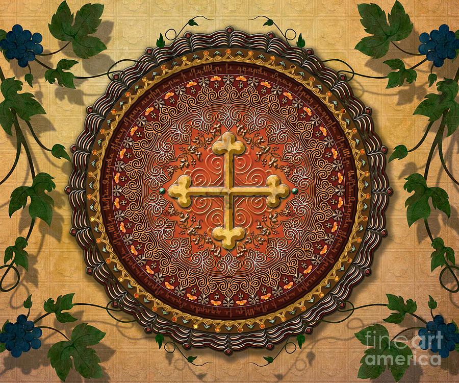 Mandala Armenian Cross Sp Digital Art