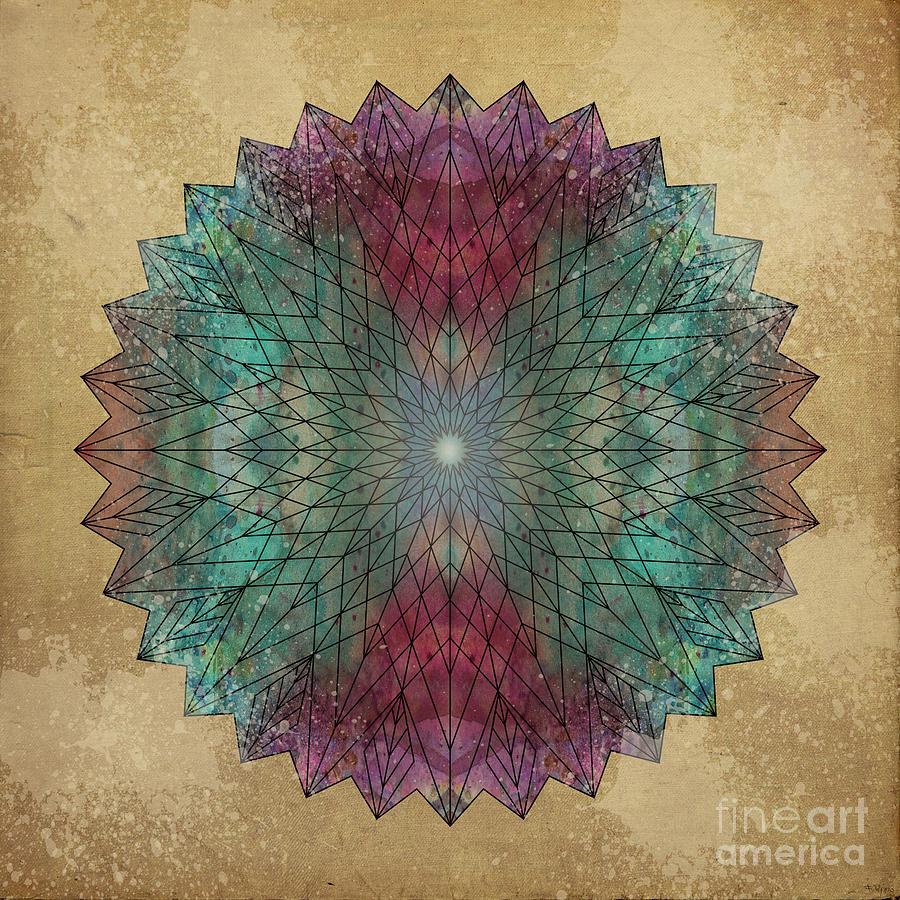 Mandala Crystal Digital Art