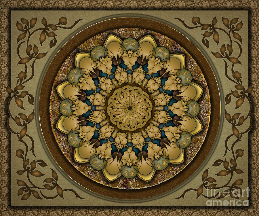 Mandala Earth Shell Sp Digital Art