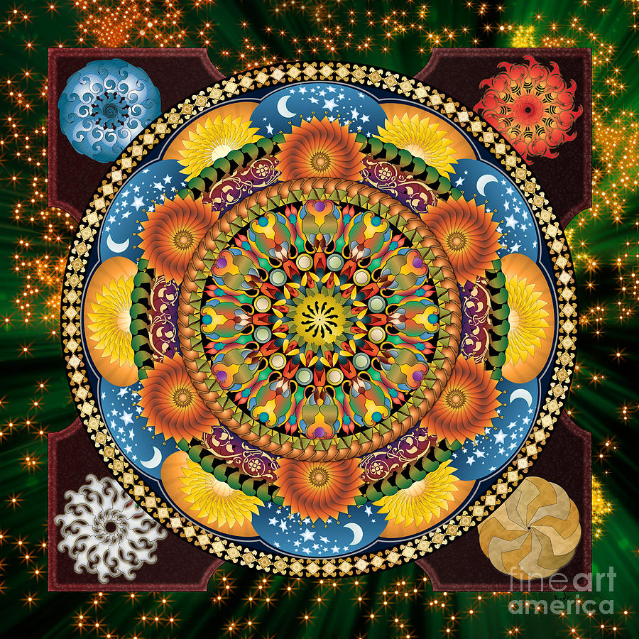 Mandala Elements Digital Art by Bedros Awak
