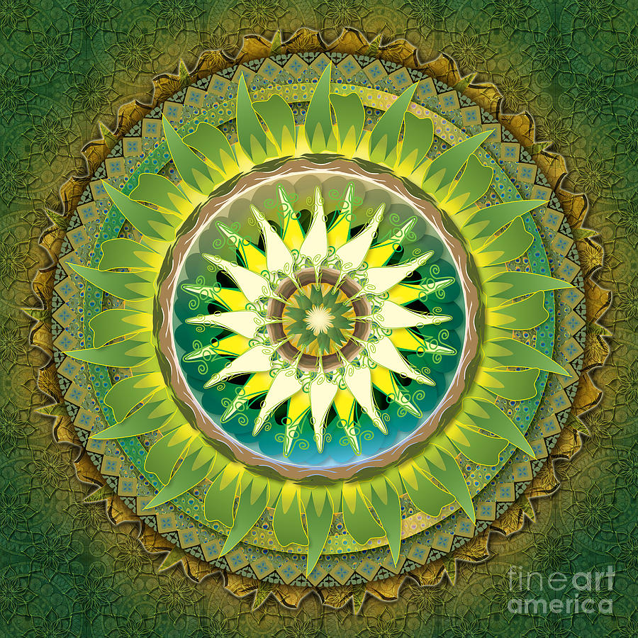 Mandala Green Digital Art