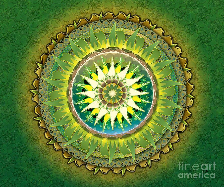 Mandala Green Sp Digital Art