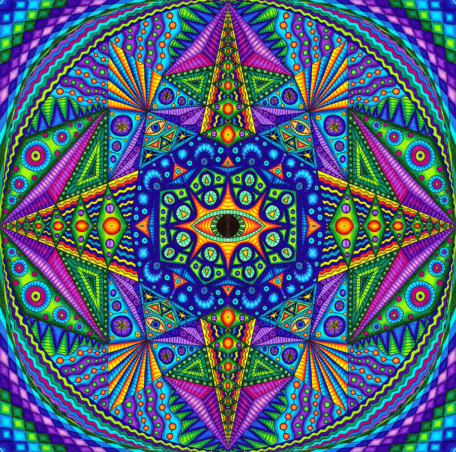 Matt Molloy Drawing - Mandala Madness by Matt Molloy