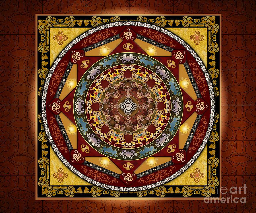 Mandala Oriental Bliss Sp Digital Art