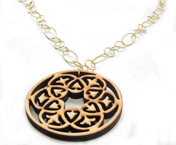 Mandala Pendant Necklace Jewelry