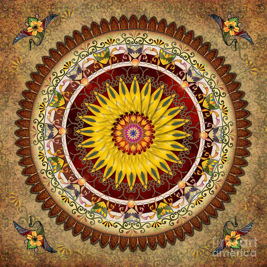 Mandala Sunflower Digital Art