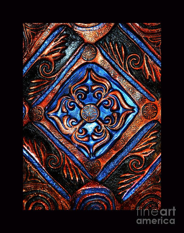 Blue Jaguar Ceramic Design Photograph - Mandala by Susanne Still