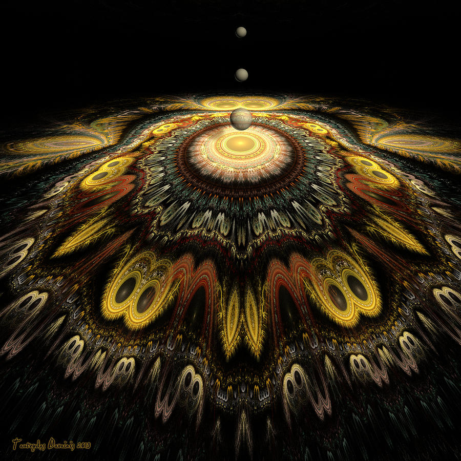 Mandala The Nun Did Not Have Time To Finish. 2013 80/80 Cm.  Digital Art