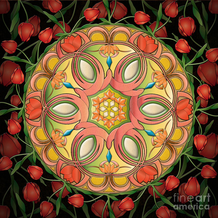 Mandala Tulipa Digital Art