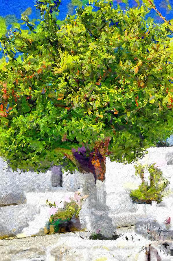 Mandarine Painting - Mandarine Tree Painting by Magomed Magomedagaev