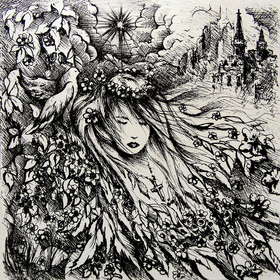 Spiritual Drawing - Mandees Dream by Rachel Christine Nowicki