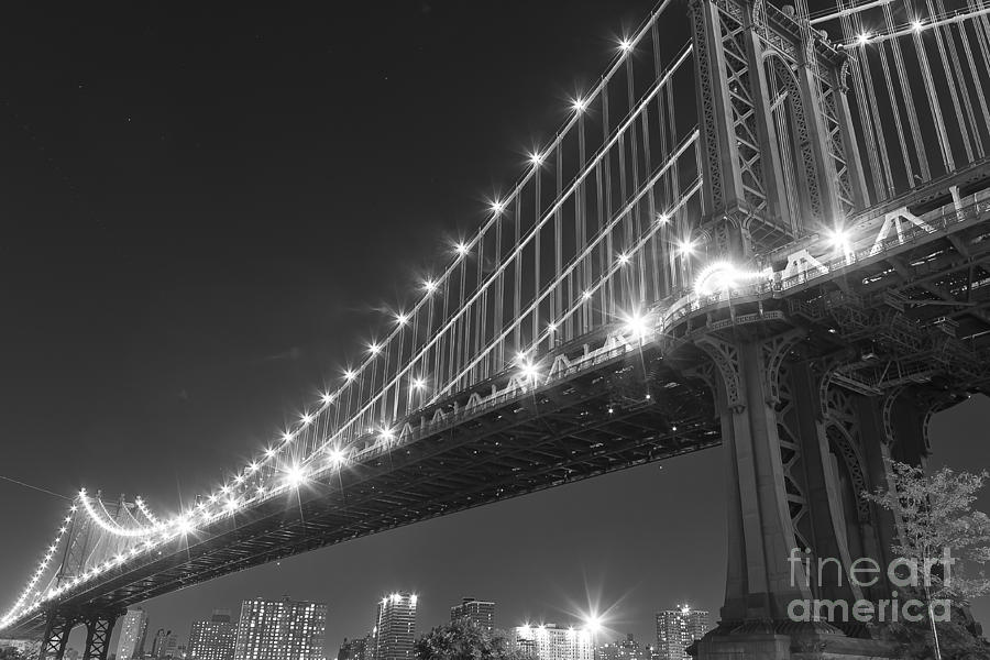 Manhattan Bridge At Twilight Photograph  - Manhattan Bridge At Twilight Fine Art Print