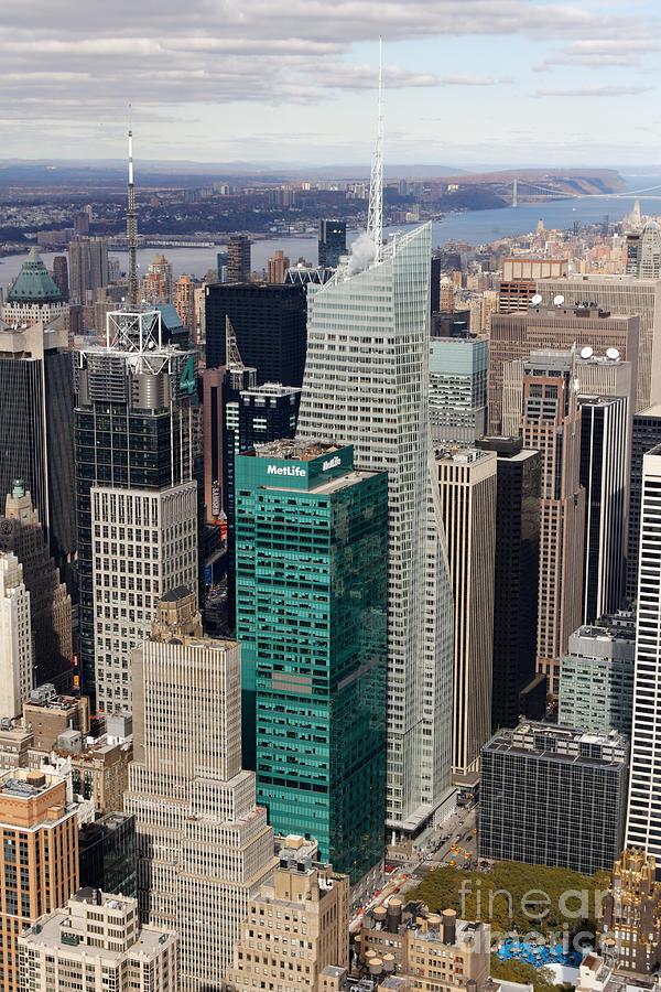 Manhattan Bryant Park Aerial Photograph