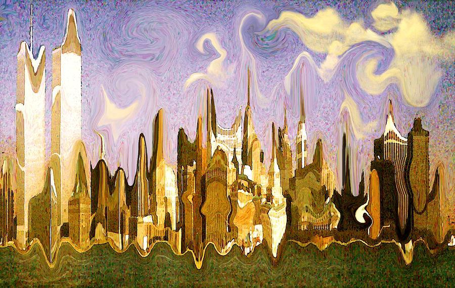 Manhattan Fantasy 1 - New York Surrealistic Art Painting
