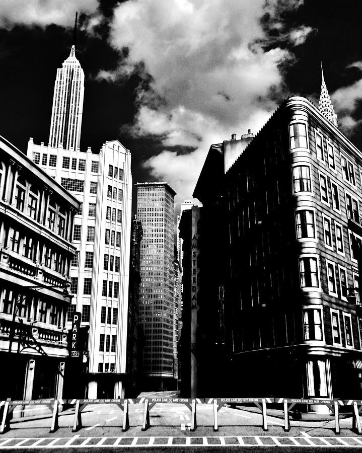 Manhattan Highlights B W Photograph
