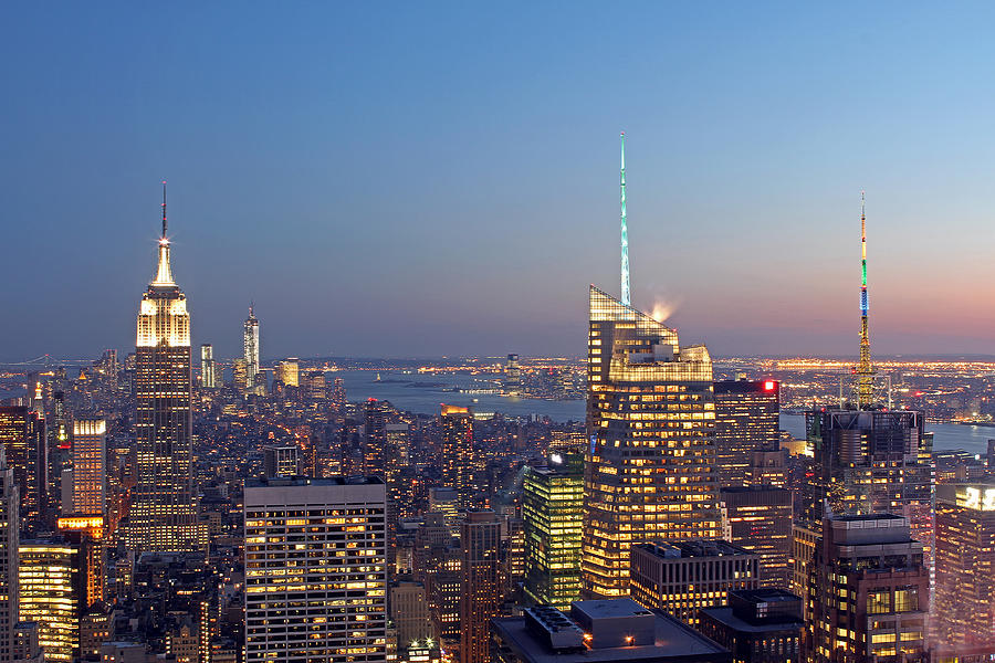 Manhattan Skyline From The Top Of The Rock Photograph