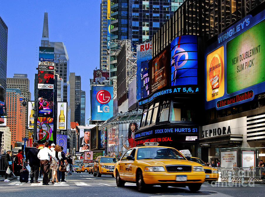 Manhattan - Times Square is a photograph by Carlos Alkmin which was ...
