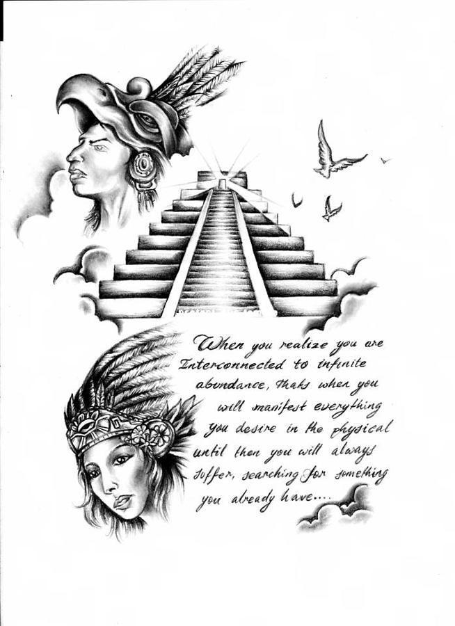 Manifest Destiny Drawing by Eddie Egesi