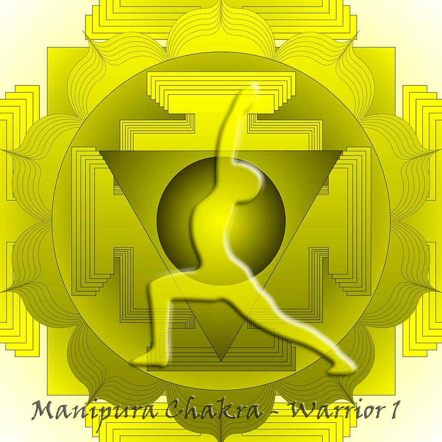 Manipura Chakra Warrior 1 Digital Art