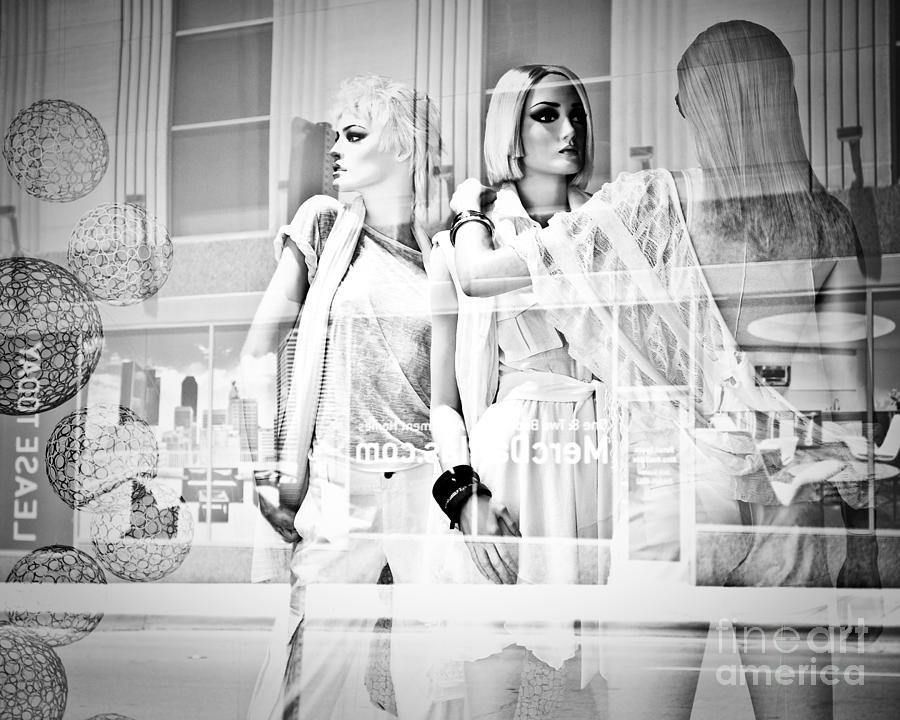 Mannequins In White Photograph