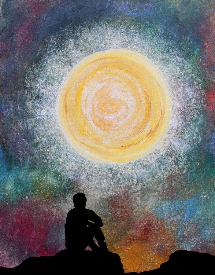 Mans Meditation Painting  - Mans Meditation Fine Art Print