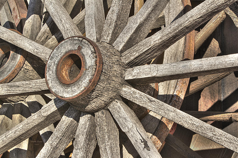 Many Wooden Wheels Photograph  - Many Wooden Wheels Fine Art Print