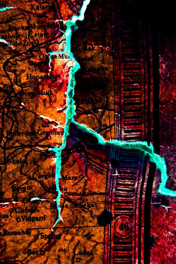 Map Photograph - Map 01 by Grebo Gray