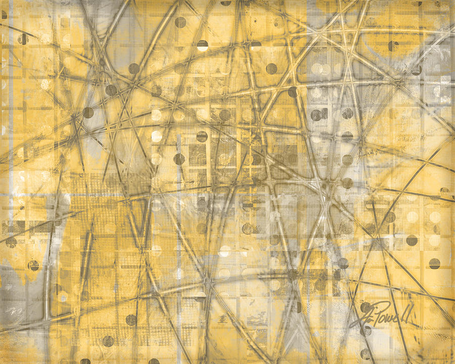 Abstract Digital Art - Map Of Secrets  by Ann Powell