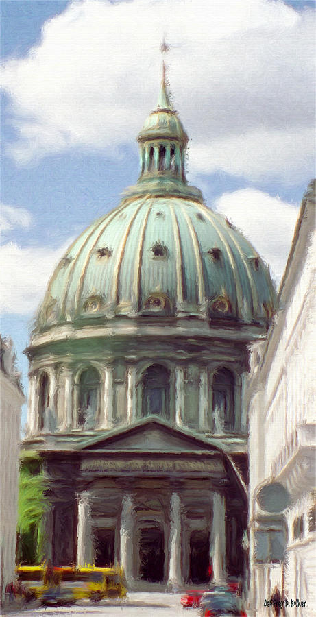 Marble Church Painting  - Marble Church Fine Art Print