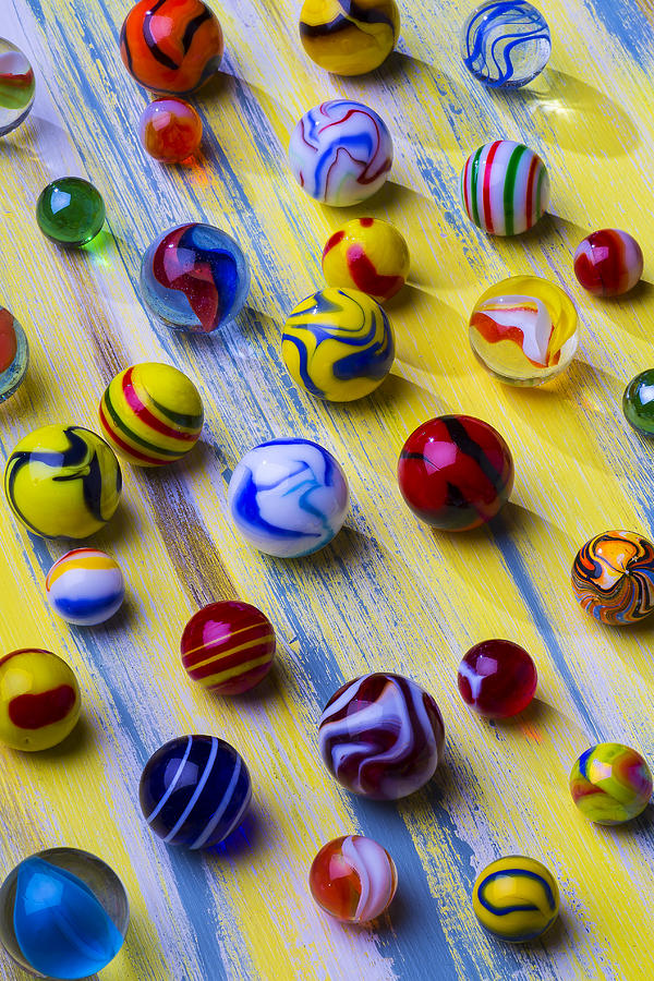 Marbles Photograph - Marble Still Life by Garry Gay