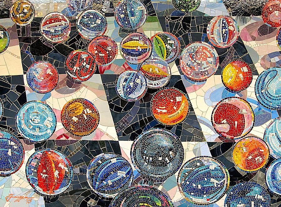 Marbles Glass Mosaic Digital Art