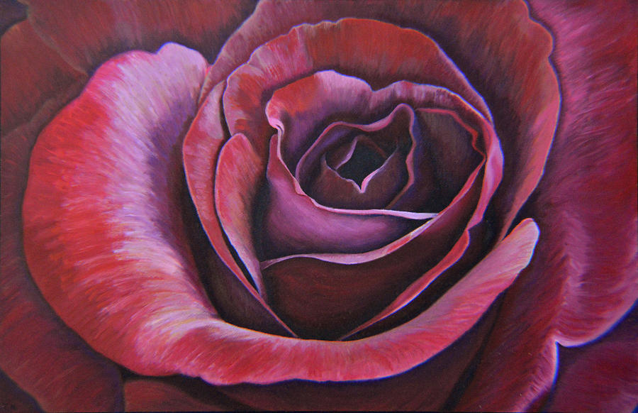 March Rose Painting