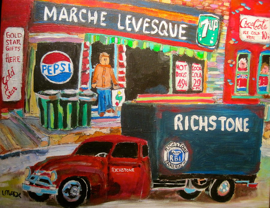 Richstone Bakery Delivery Truck Painting - Marche Levesque by Michael Litvack