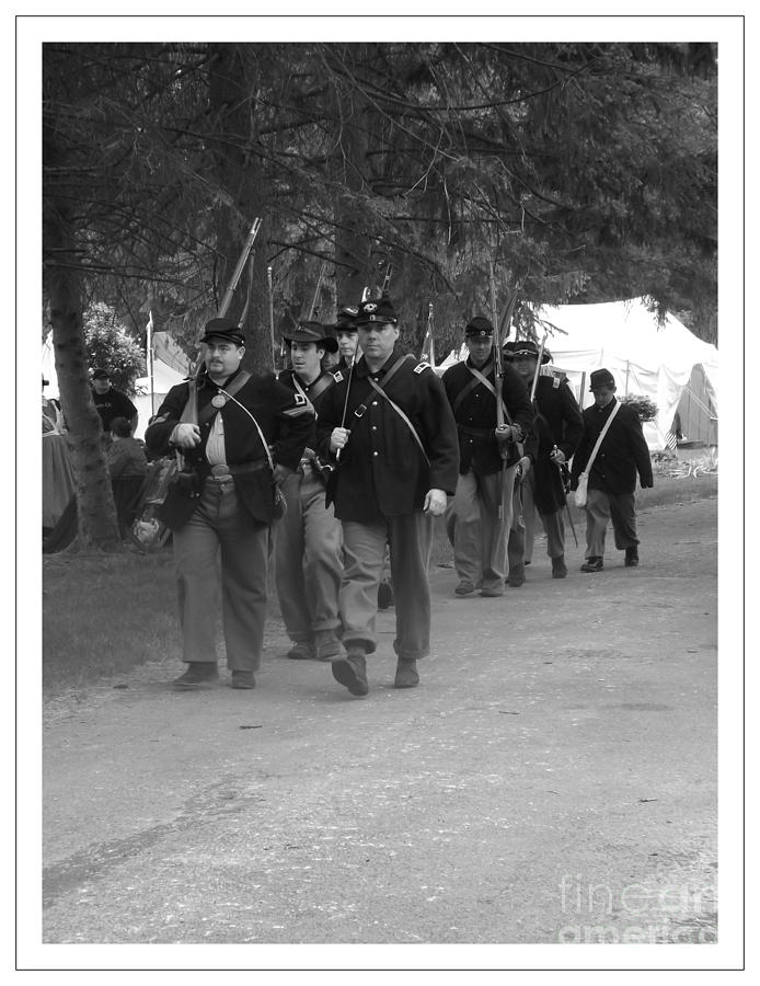 Civil War Photograph - Marching Off To Battle by Sara  Raber
