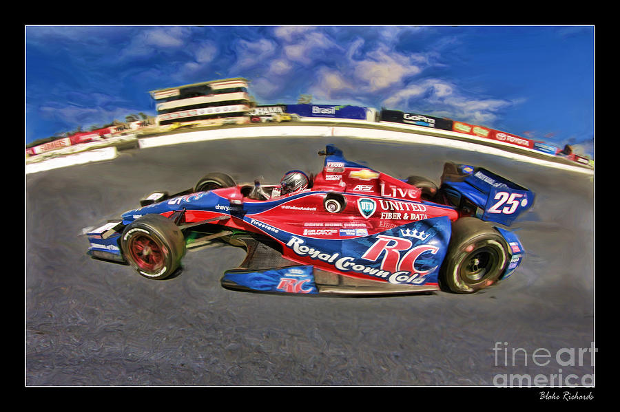 Marco  Andretti Photograph - Marco Andretti by Blake Richards