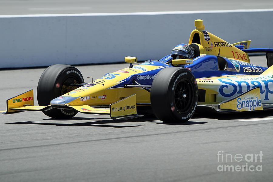 Marco Andretti Pits Photograph