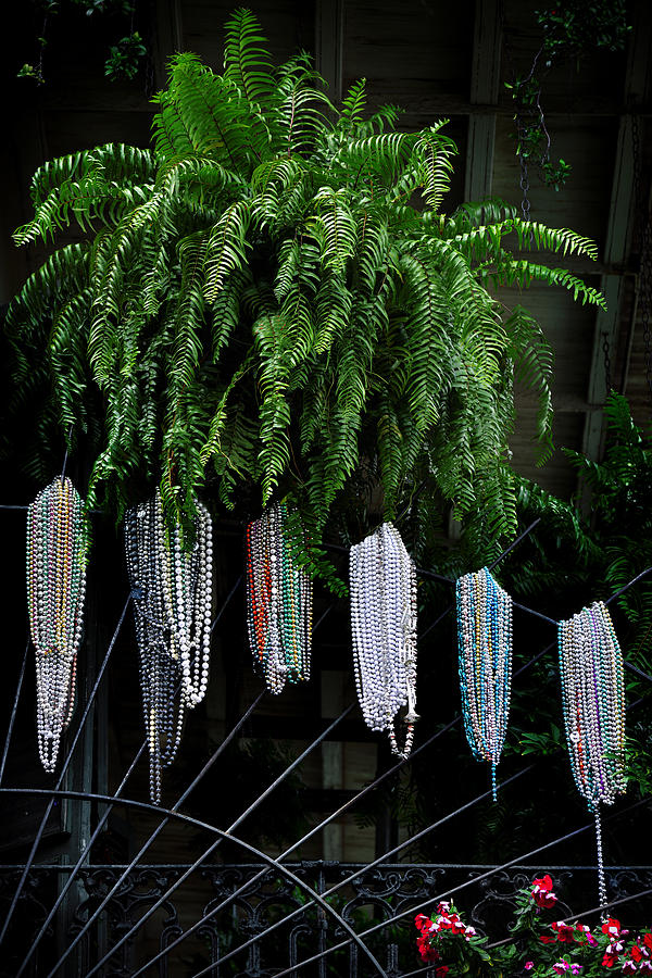 Mardi Gras Beads New Orleans Photograph